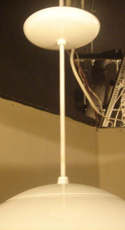vintage style glass globe hanging lamp lighting fixture at 1stdibs. Black Bedroom Furniture Sets. Home Design Ideas