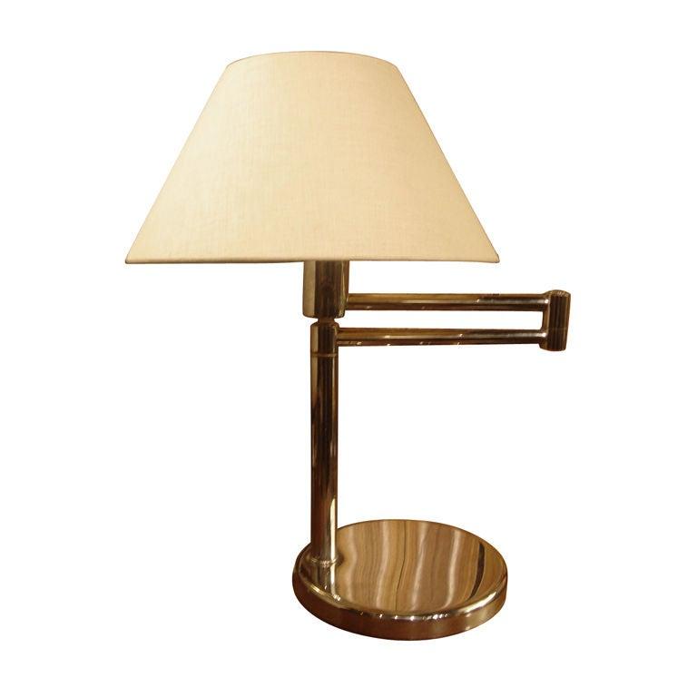 Chrome Swing Arm Desk Lamp By Nessen Studio At 1stdibs