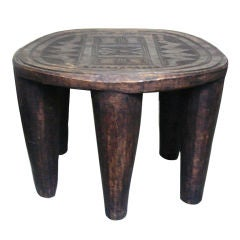 "Vintage African ""Elephant"" Stool from Nupe Tribe"