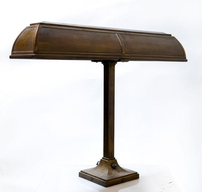 Lamps P: Bronze Bankers Lamp By I.P. Frink At 1stdibs