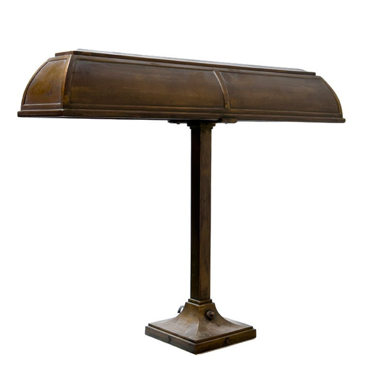 Bronze Bankers Lamp By I P Frink At 1stdibs