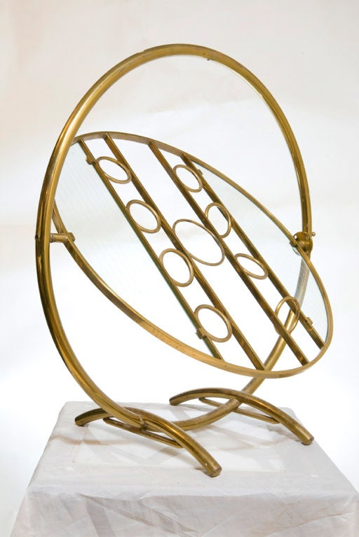 Rare 1930s Gyro Cart Brass Drink Server For Yacht At 1stdibs