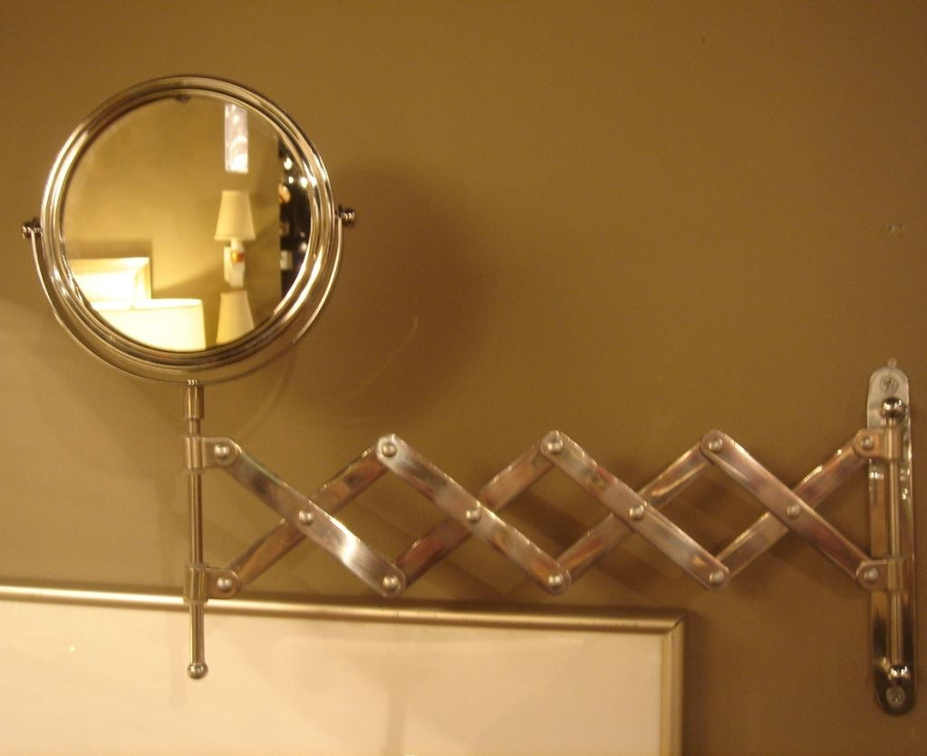 French Vanity Wall Mirror with Extension Arm at 1stdibs
