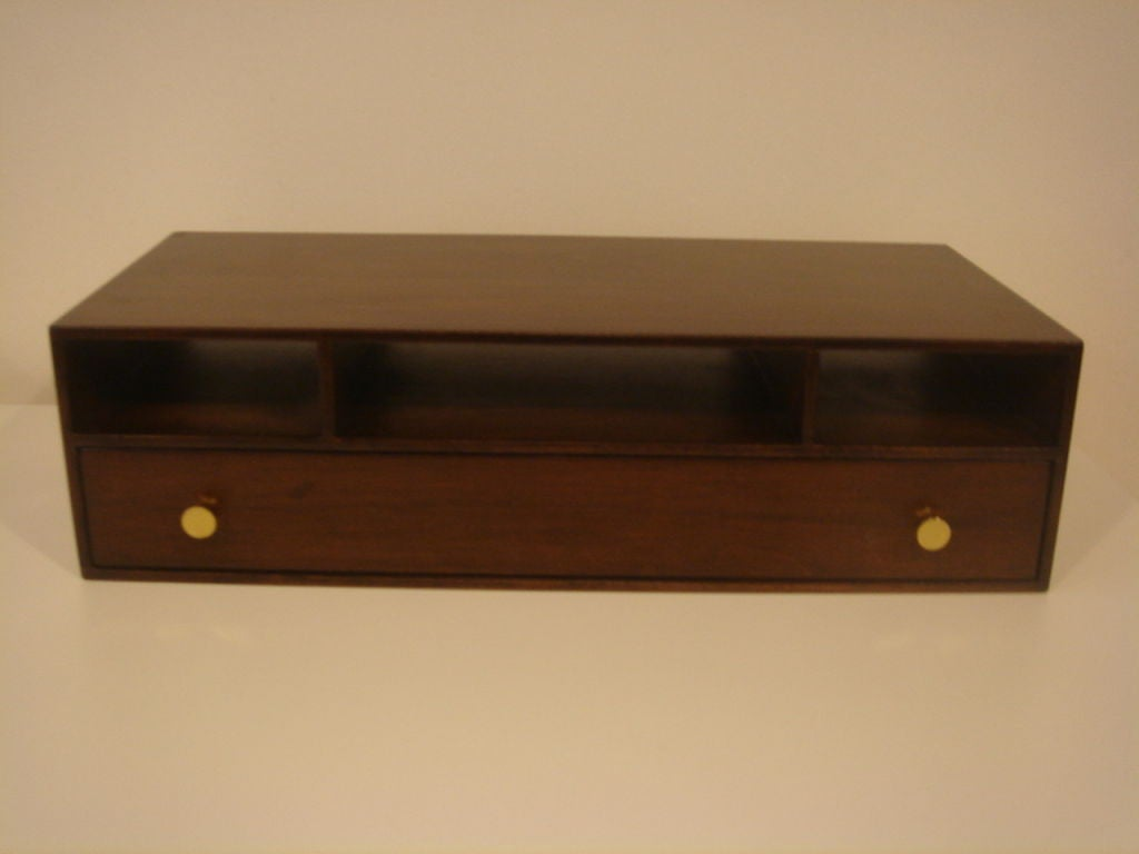 Paul Frank Bedroom In A Box: Walnut Valet / Desk Box By Paul Frankl For Sale At 1stdibs