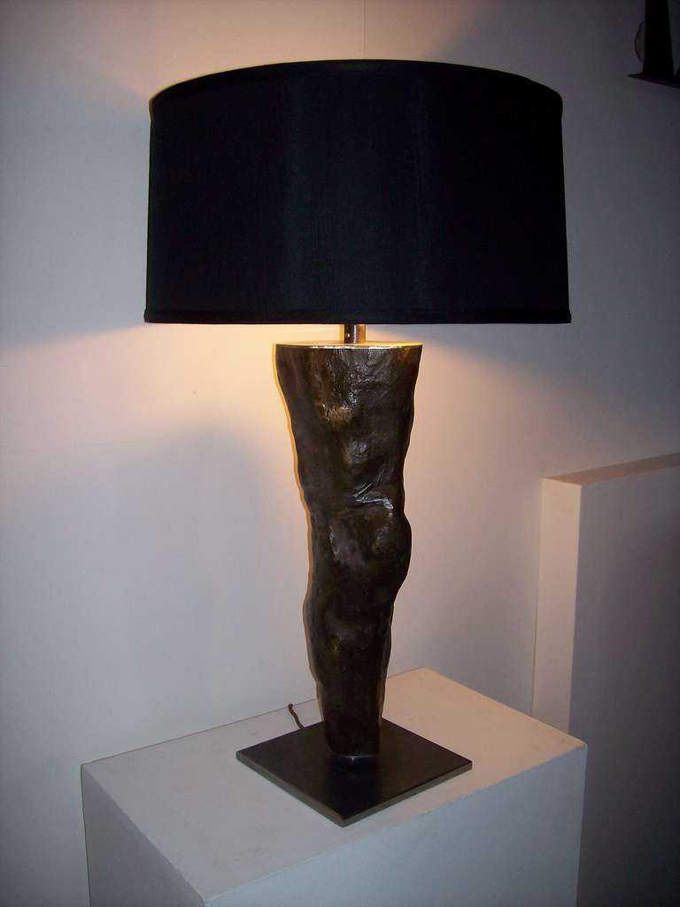 Bronze leg table lamp for sale at 1stdibs unknown bronze leg table lamp for sale aloadofball Choice Image
