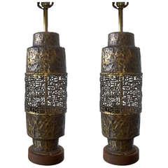 Marcello Fantoni Torch Cut Table Lamp