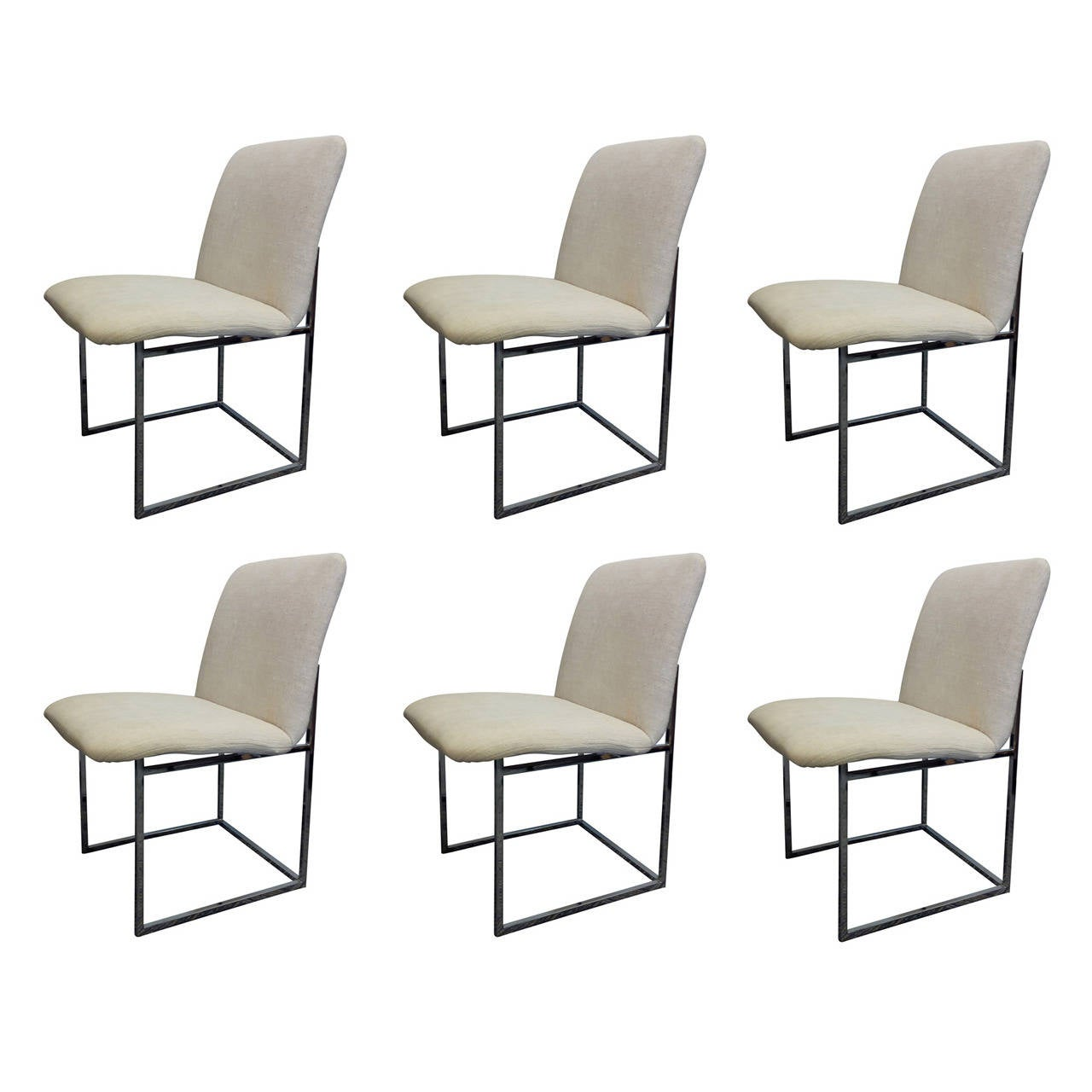 Simple Minimalist Dining Set: Set Of 6 Minimalist Dining Chairs By DIA At 1stdibs