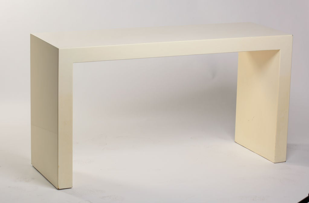 Custom Lacquer Parsons Console Table After Karl Springer 3