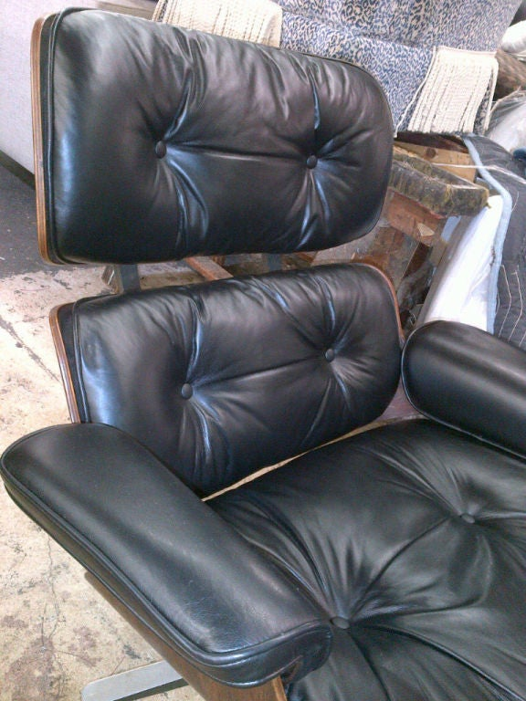 Vintage Rosewood Chair & Ottoman by Eames for Herman Miller 3