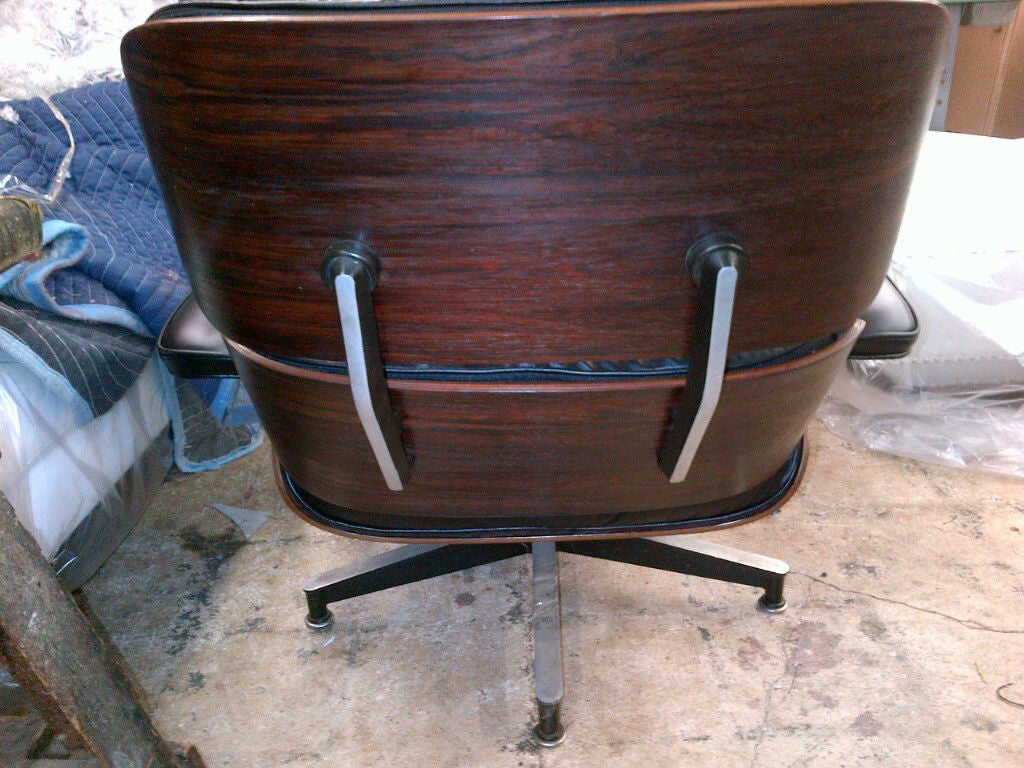 Vintage Rosewood Chair & Ottoman by Eames for Herman Miller 4