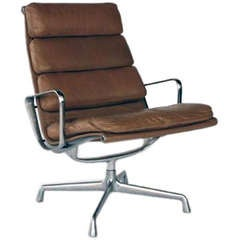 Vintage Aluminum Group Lounge Chair by Eames for Herman Miller
