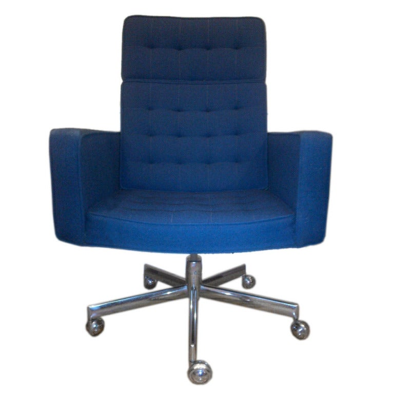Rare Tall Back Desk Chair By Vincent Cafiero For Knoll
