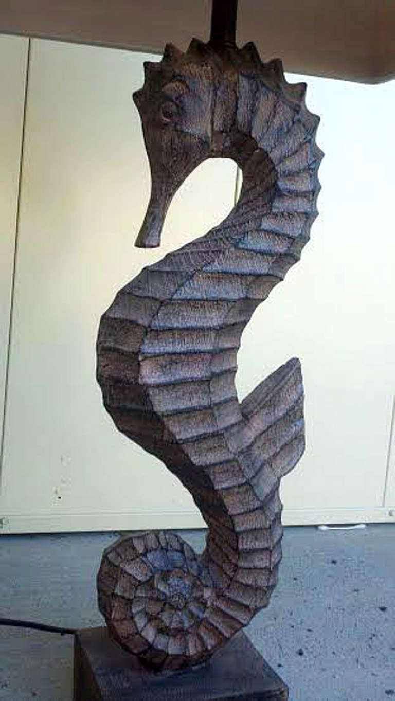 Pair of Seahorse Form Lamps at 1stdibs