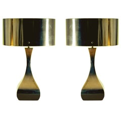 Pair of Melrose III Brass Table Lamp