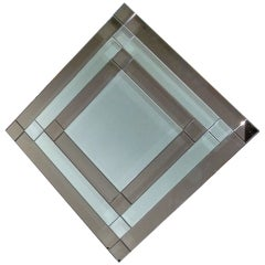 Dramatic Inverted Square Mirror by Milo Baughman