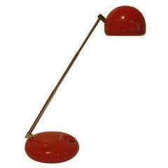 Red Task Lamp Model #650 by Tensor