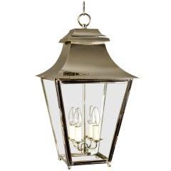 The Grosvenor Hanging Lantern in Polished Nickel