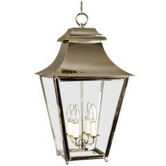 Grosvenor Hanging Lantern in Polished Nickel