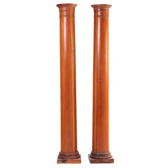 Pair Of Vintage Wood Architectural Columns For Sale At 1stdibs