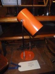 1960s Minimalist Orange Steel Desk Lamp