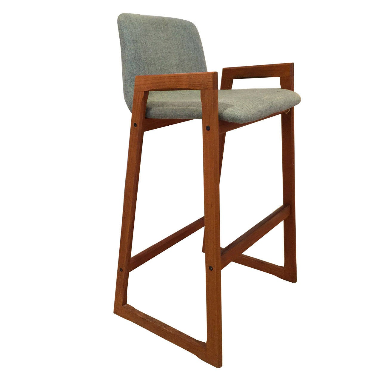 Vintage Danish Teak Bar Stool With Arms In Com 6
