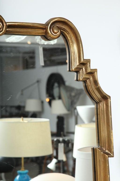 American Hollywood Regency Gold Leaf Gilt Mirror For Sale