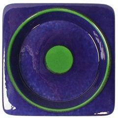 Raymor Blue& Green Bulls-Eye Bowl
