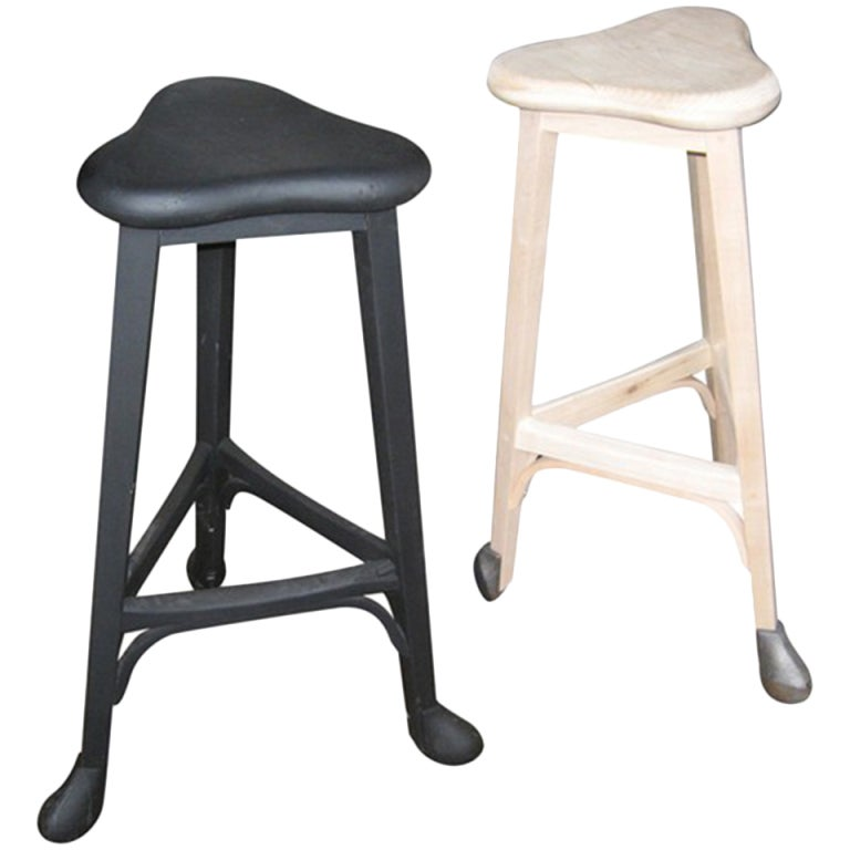 Three Legged Bar Stool Sold Individually At 1stdibs