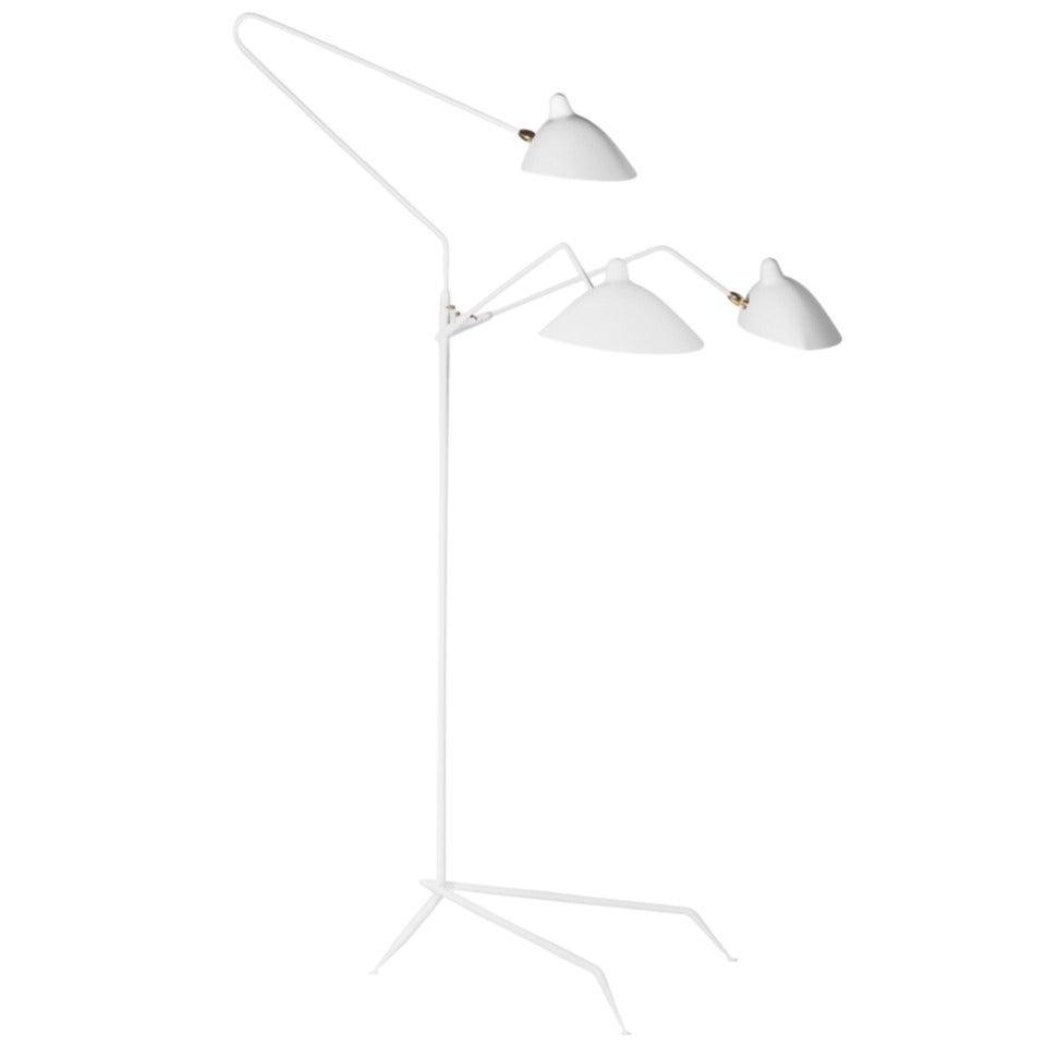 serge mouille three arm floor lamp. Black Bedroom Furniture Sets. Home Design Ideas