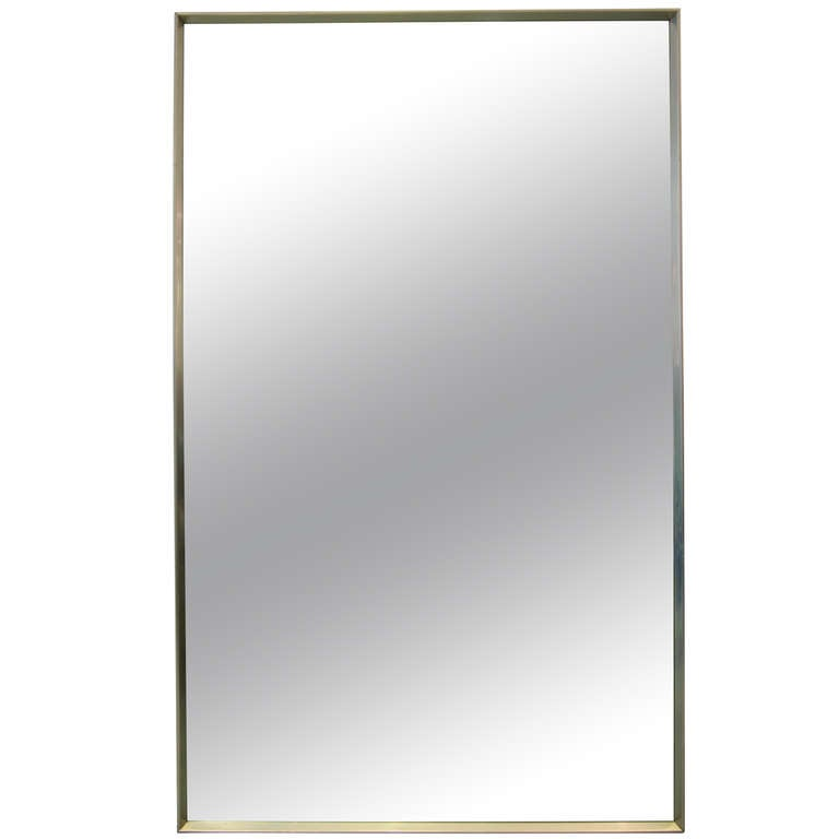 Minimalist Stainless Steel Mirror For Sale at 1stdibs