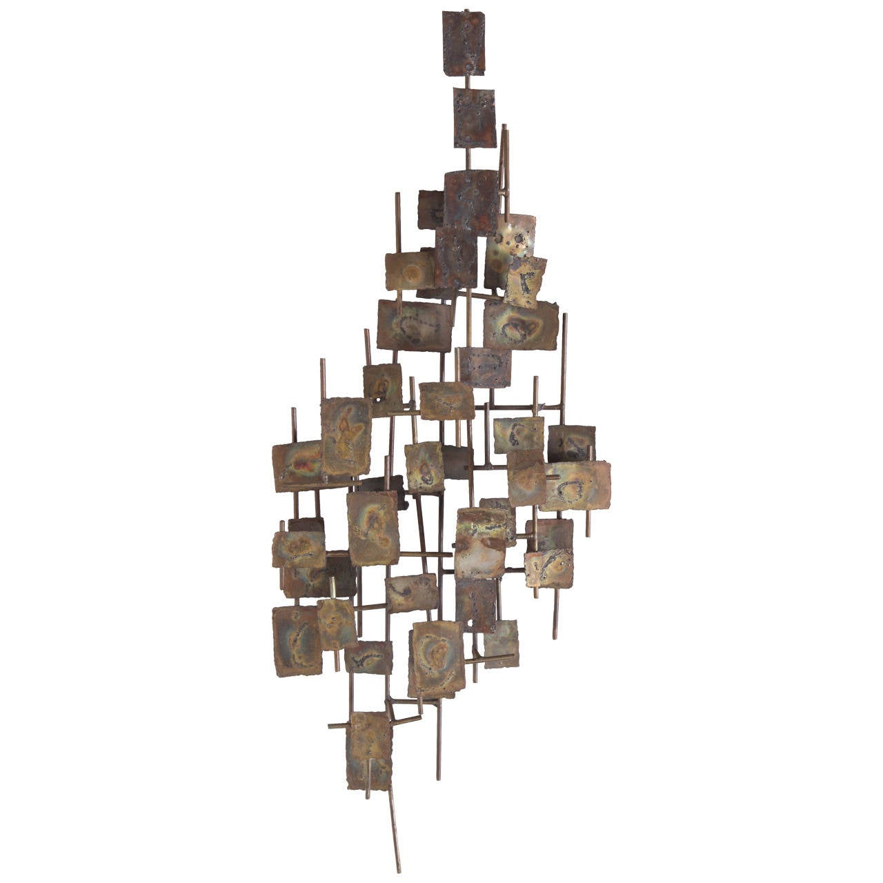 Brutalist Wall-Mounted Sculpture by Curtis Jere For Sale