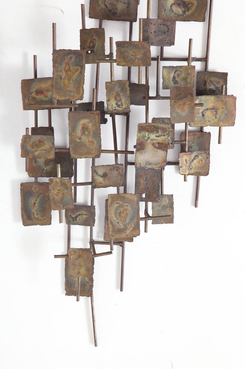 American Brutalist Wall-Mounted Sculpture by Curtis Jere For Sale