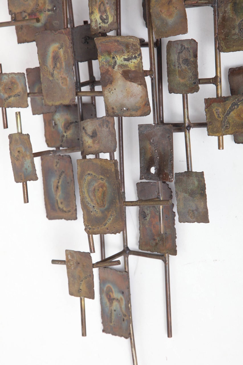 Brutalist Wall-Mounted Sculpture by Curtis Jere In Excellent Condition For Sale In New York, NY