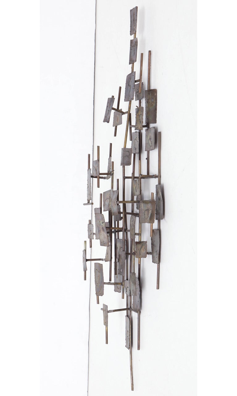 Brutalist Wall-Mounted Sculpture by Curtis Jere For Sale 3