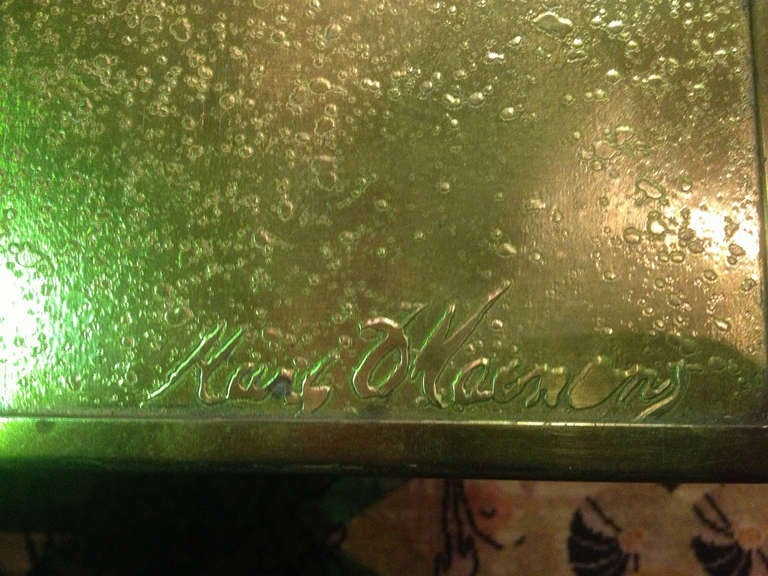 Late 20th Century Marc D'Haenens Etched Bronze Coffee Table For Sale