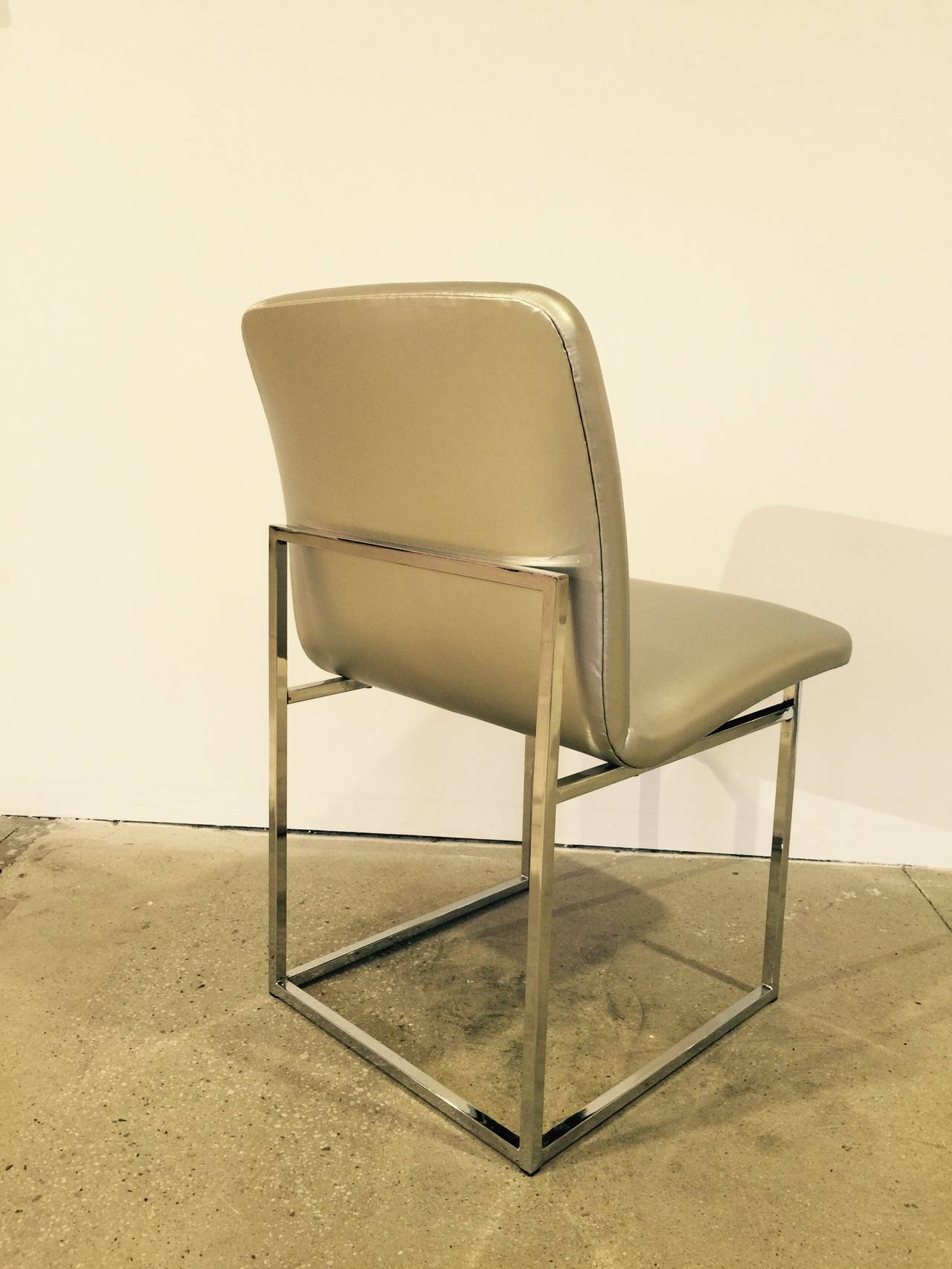 Set of 4 10 Minimalist Dining Chairs by DIA in Silver  : imagel from www.1stdibs.com size 1280 x 1706 jpeg 155kB