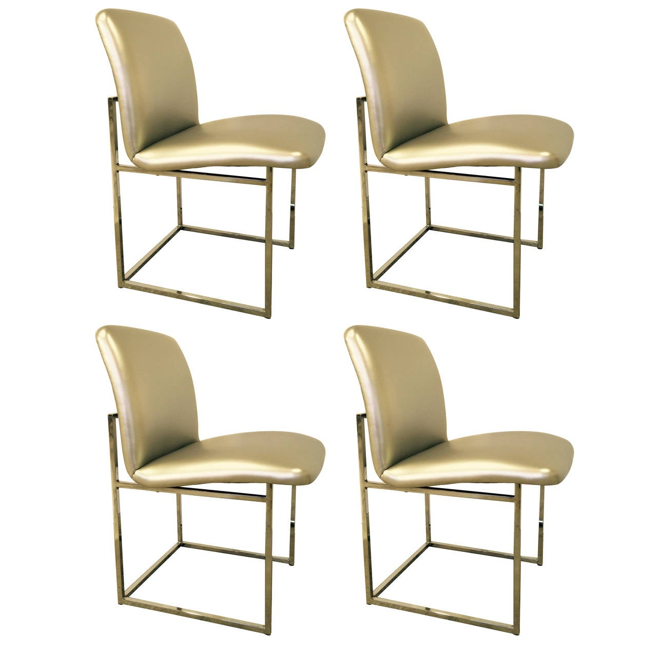 Set of 4 10 Minimalist Dining Chairs by DIA in Silver  : F8166BA1EB294B508CC5DC413697C9B29BF93319E4D74C6D8CF0000A0724323El from www.1stdibs.com size 1280 x 1280 jpeg 87kB