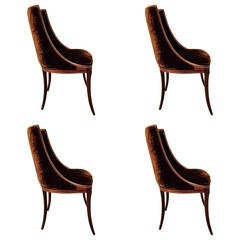 Set of Four Neoclassical Dining Chairs in COM