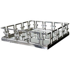 Large Gallery Tray with Mirror Bottom