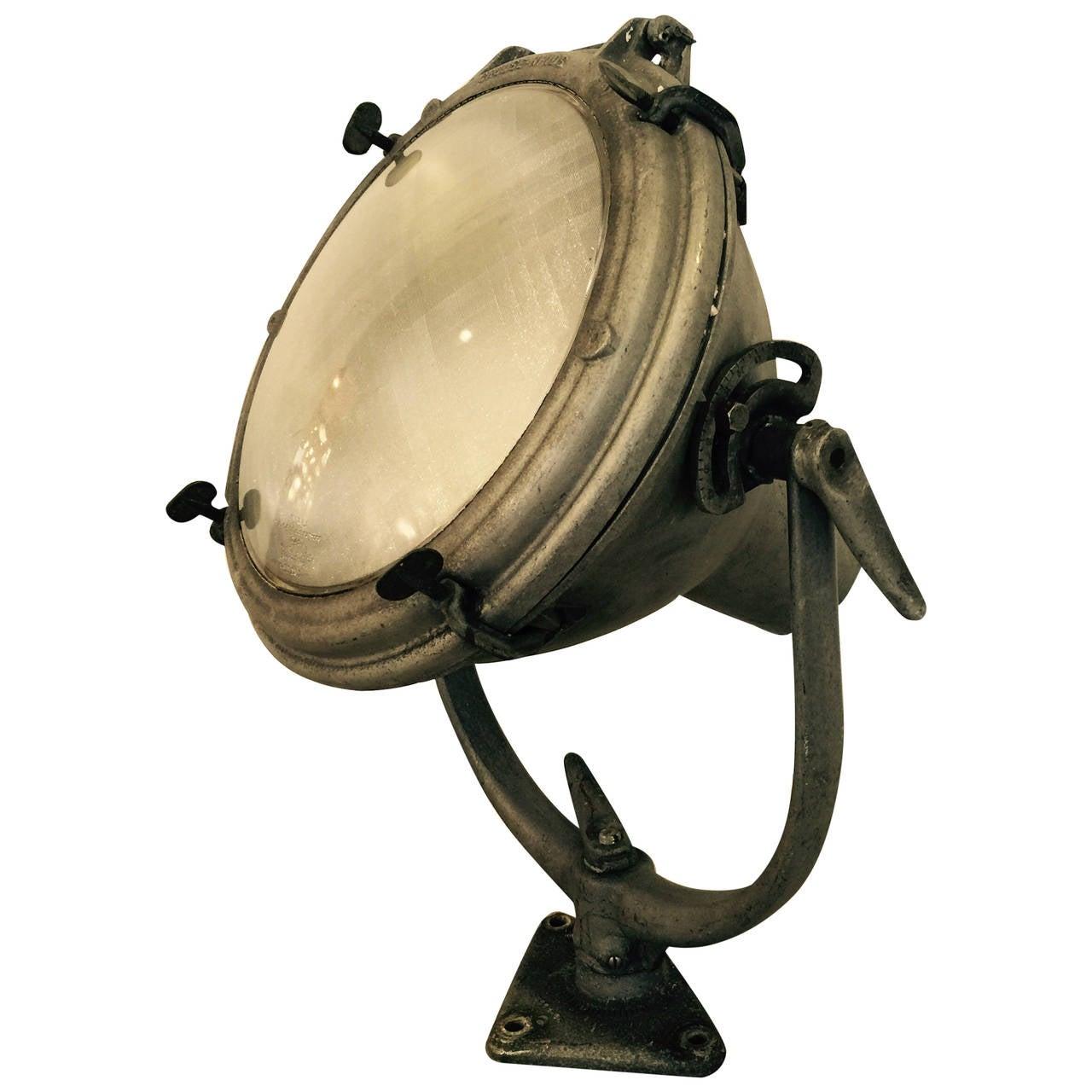 Vintage Nautical Spot Light For Sale
