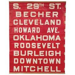 Vintage Midwest Bus Sign