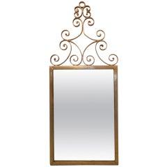 Gilt Scroll Mirror