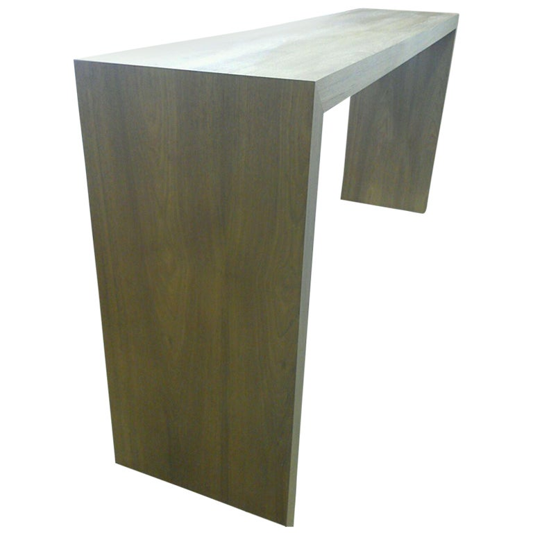 Custom Teak Console Table For Sale