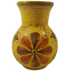 Yellow Pottery Vase by Rosenthal Netter