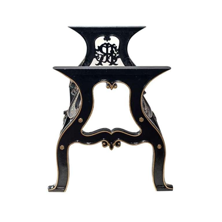 Cast Iron Table Legs For Sale: Robinson Industrial Cast Iron Table Base For Sale At 1stdibs