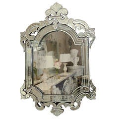 Etched and Beveled Venetian Mirror