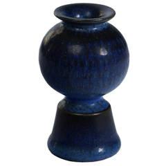 Blue Vase by Stig Lindberg for Gustavsberg