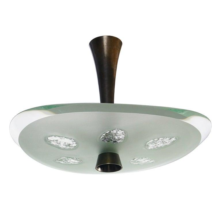 max ingrand chandelier for fontana arte at 1stdibs. Black Bedroom Furniture Sets. Home Design Ideas