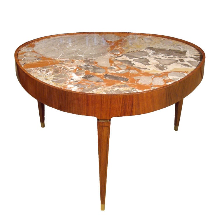 New York Marble Coffee Table: Marble Top Cocktail Table By Paolo Buffa At 1stdibs