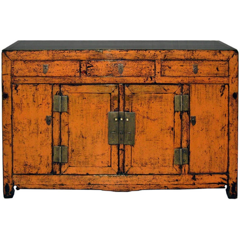 Antique orange sideboard at 1stdibs for Sideboard orange